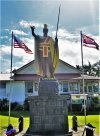 Original statue of King Kamehameha on display in Kapa'au