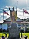 Original statue of King Kamehameha on display in Kapa'au
