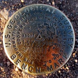 Mauna Kea Summit Benchmark