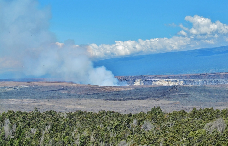 Halema'uma'u Caldera on the summit of Kilauea.