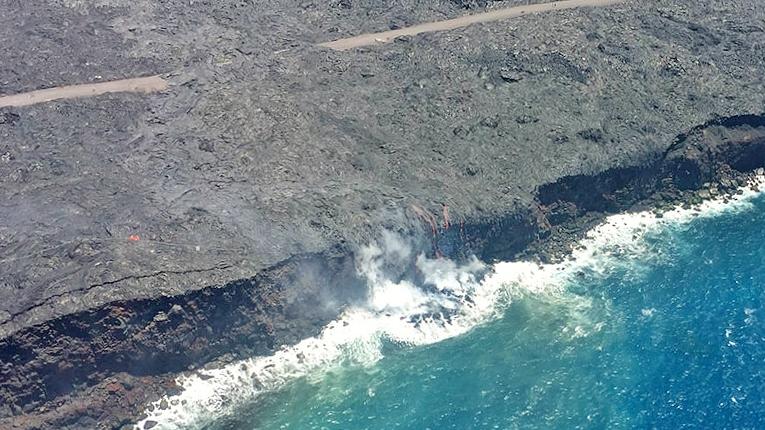 Kilauea Pu'u 'O'o lava flow ocean entry