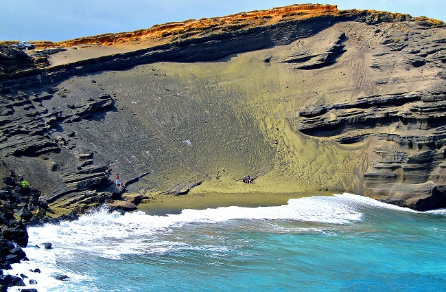 Papakolea Green Sand Beach Big Island Hawaii