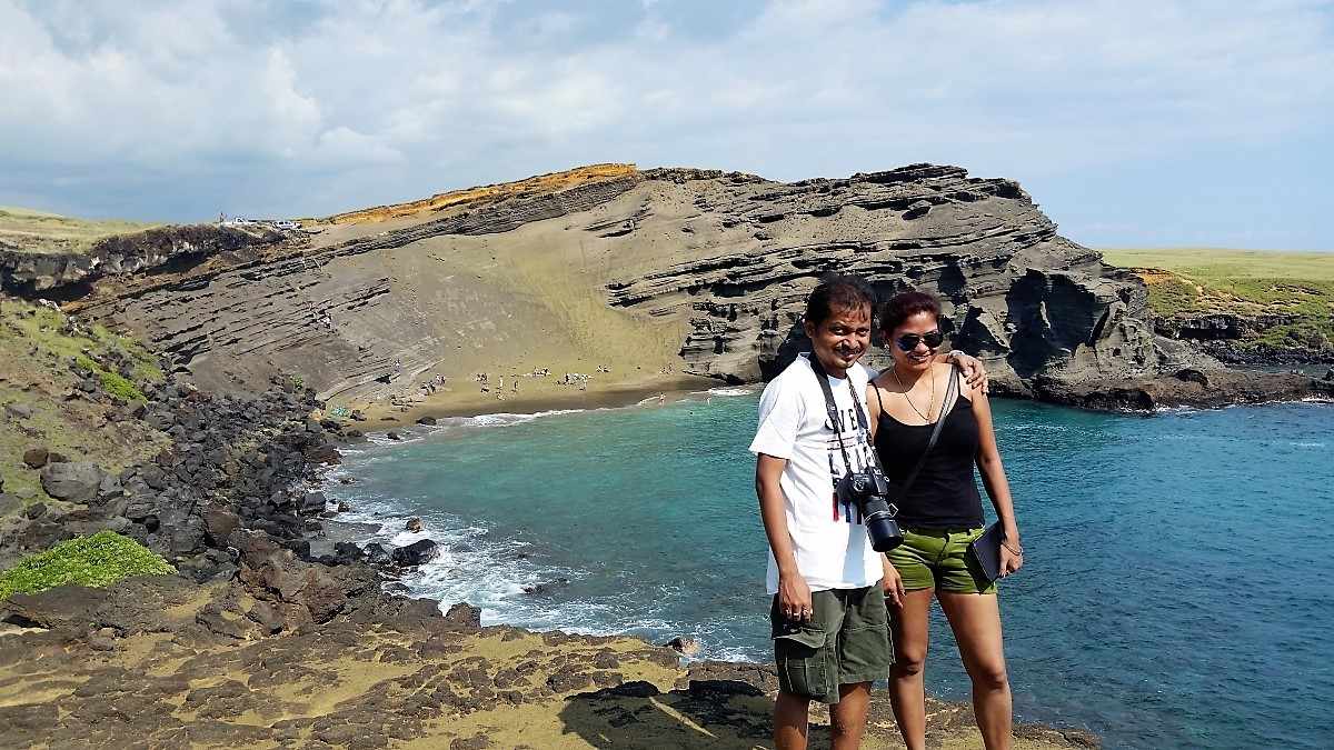 Private Hawaii tour to Papakolea green sand beach