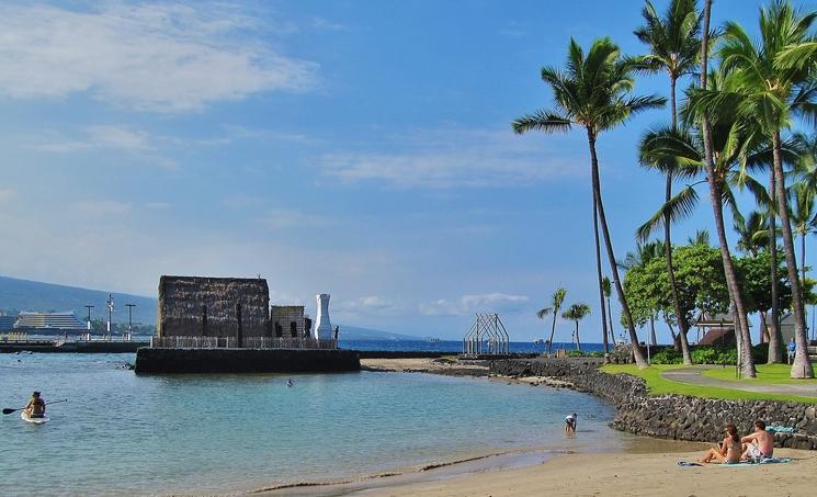 Heiau at Kamakahonu Beach
