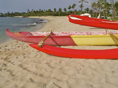 Canoe rentals at Kukio Beach - adjacent to Kikaua Beach