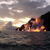 Active volcanoes in Hawaii