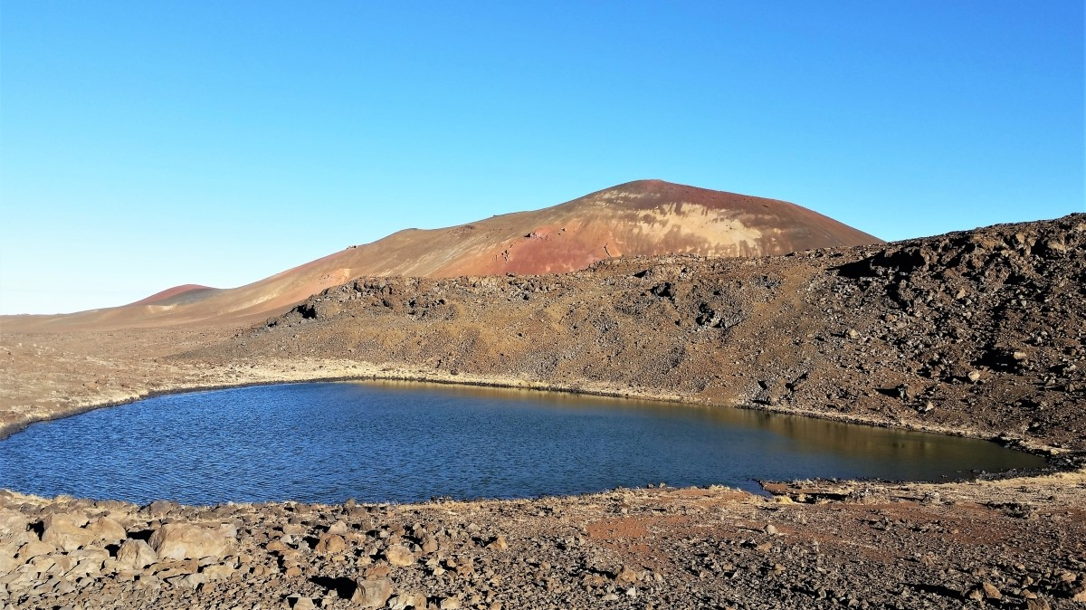 Lake Waiau on Mauna Kea Volcano