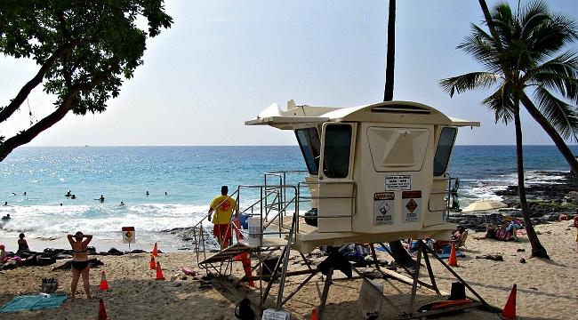 Lifeguard tower at Magic Sands Beach
