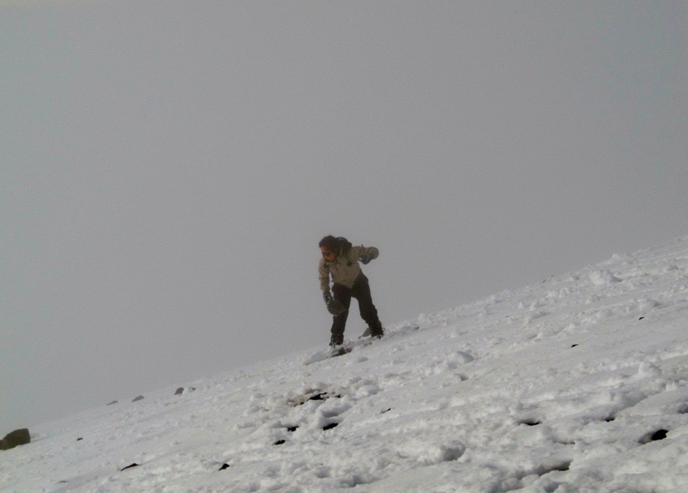 Snowboarding on Mauna Kea Volcano!