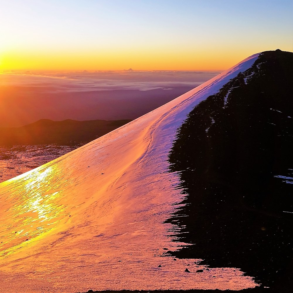 Sunrise on Mauna Kea Volcano