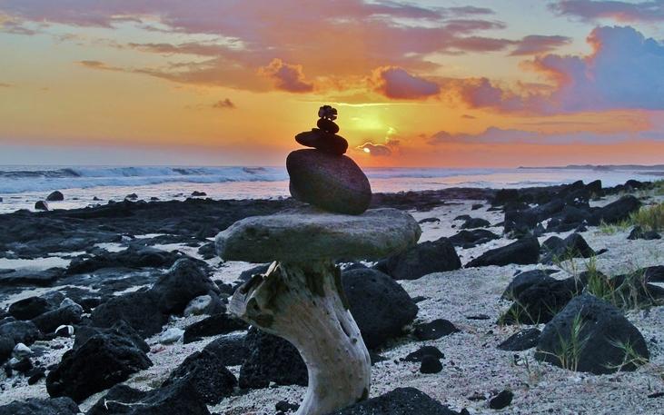 Old Kona Airport Beach Hawaii sunset
