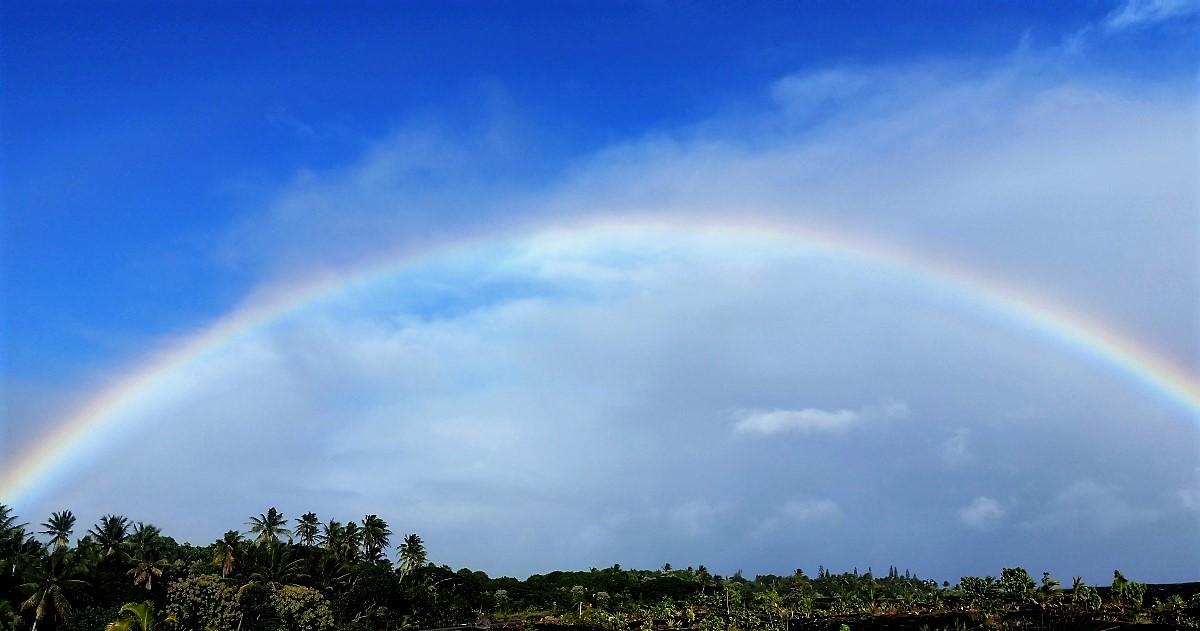 Rainbow at Kalapana, south of Hilo