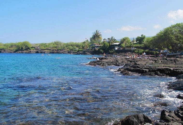 Snorkeling Two Step at Honaunau Bay