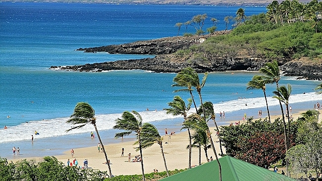 Hapuna Beach picnic pavillion
