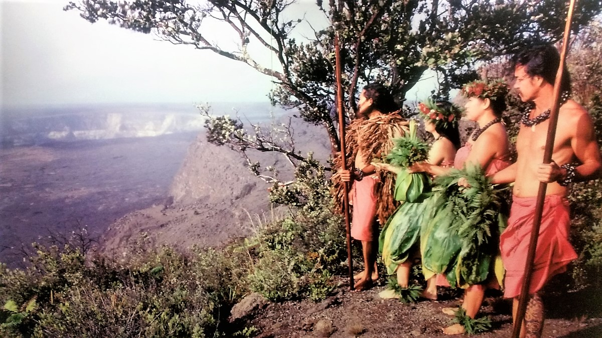 Ancient Hawaiians at Kilauea Caldera