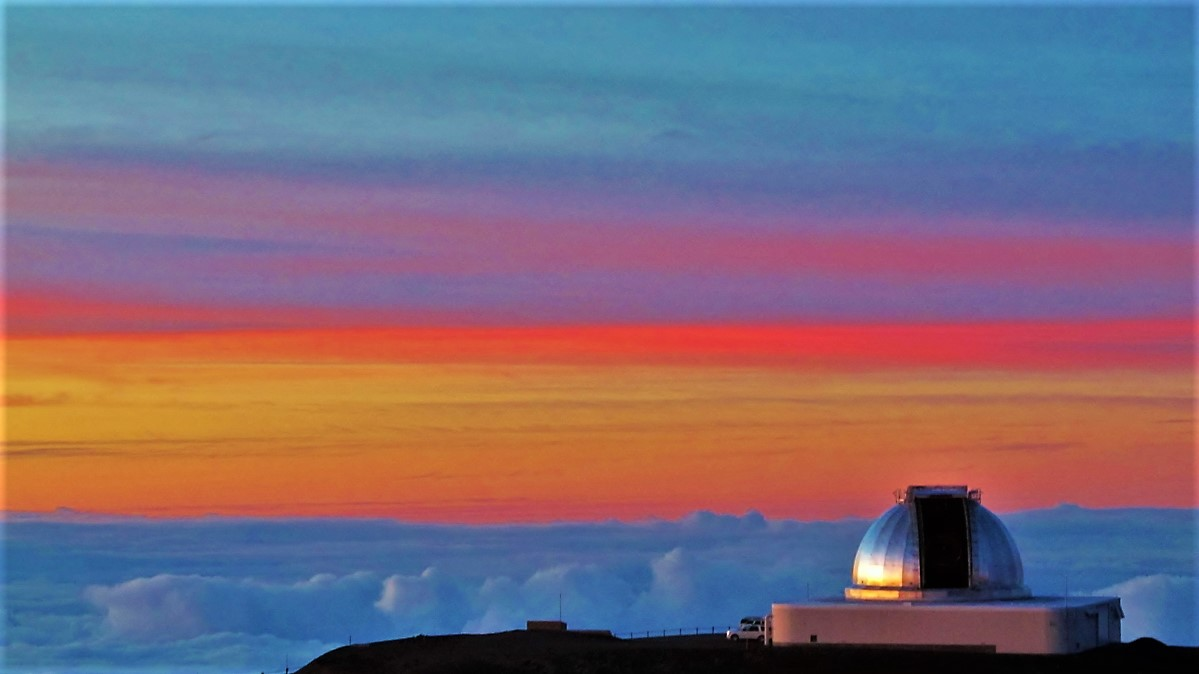 Sunset from the summit of Mauna Kea Volcano
